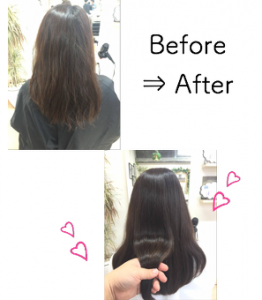 髪の毛の内部ダメージを修復